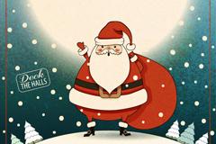 Link toVintage father christmas vector illustration