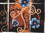 Link toVintage floral background vector free