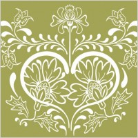 Link toVintage floral design vector graphic