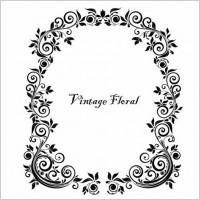 Link toVintage floral frame vector