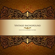 Link toVintage floral luxury background vectors 04