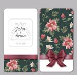 Link toVintage floral wedding invitation cards vector