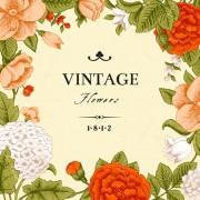 Link toVintage flower design background art free