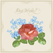 Link toVintage flower wishes cards design vector 01 free