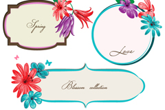 Link toVintage flowers border vector