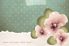 Link toVintage folding love flower background vector