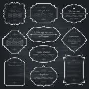 Link toVintage frame dark style vector 02 free