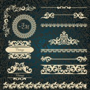 Link toVintage frame with border and ornaments design vectors free