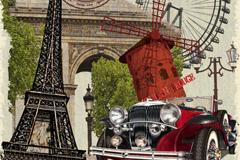 Link toVintage france poster elements vector