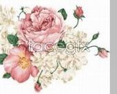 Vintage gentle flowers psd