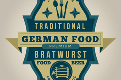 Link toVintage germany traditional food label vector