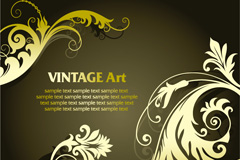 Link toVintage gold pattern vector background