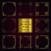 Link toVintage golden decorative frames vector free