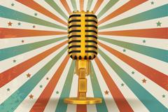 Link toVintage golden microphone vector