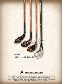 Link toVintage golf club psd brand poster