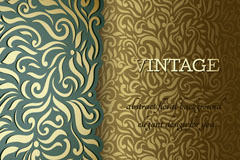 Link toVintage gorgeous patterned background vector