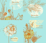 Link toVintage hand-painted flower card vector