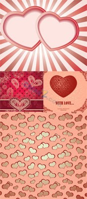 Link toVintage heart shaped card vector