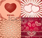 Link toVintage heart-shaped cards vector