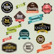 Link toVintage labels with stickers and ribbons vector graphics 01 free