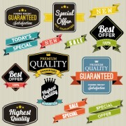 Link toVintage labels with stickers and ribbons vector graphics 04 free