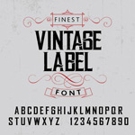 Link toVintage letters and numbers vector