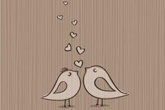 Vintage love bird vector
