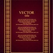 Link toVintage luxury frame design vector set 02