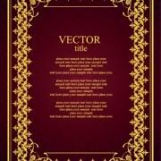 Link toVintage luxury frame design vector set 04