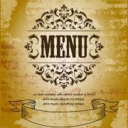 Link toVintage menu with grunge background vector free