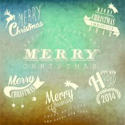 Link toVintage merry christmas logos design vector 01