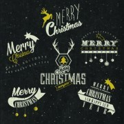 Link toVintage merry christmas logos design vector 03