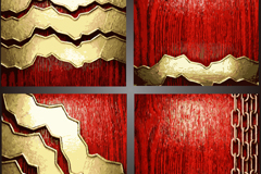 Link toVintage metal and wood grain background vector