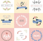 Link toVintage mother's day card vector