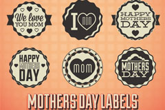 Link toVintage mother's day tag vector