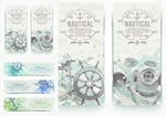 Link toVintage nautical banner vector