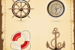 Link toVintage nautical element background vector