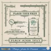 Link toVintage ornaments and frames design vector 02
