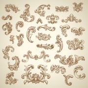 Link toVintage ornaments with corners vector free