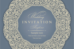 Link toVintage patterns party invitation card vector