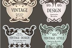 Link toVintage patterns tags design vector