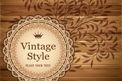 Link toVintage patterns wooden background vector