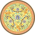 Link toVintage porcelain plate vector