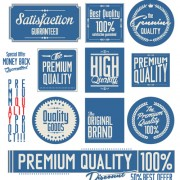 Link toVintage premium quality stickers and labels with banner vector 03 free