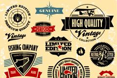Link toVintage promotional label badge vector