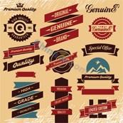 Link toVintage promotional label vector design template