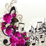 Link toVintage purple roses vector set 01