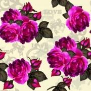 Link toVintage purple roses vector set 04