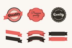 Link toVintage ribbons and stickers vector