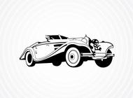 Link toVintage roadster vector free